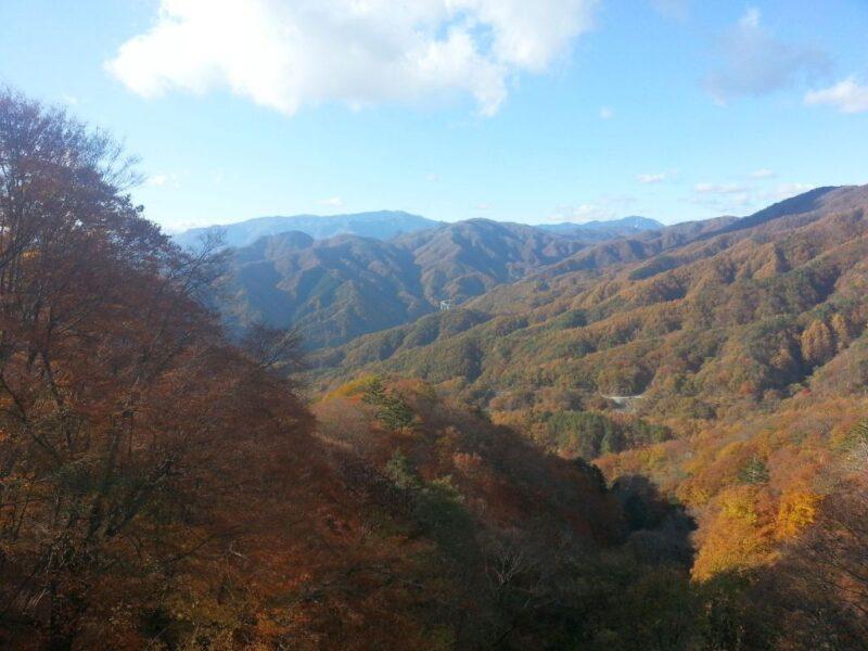 上日川峠付近から山梨側の眺め