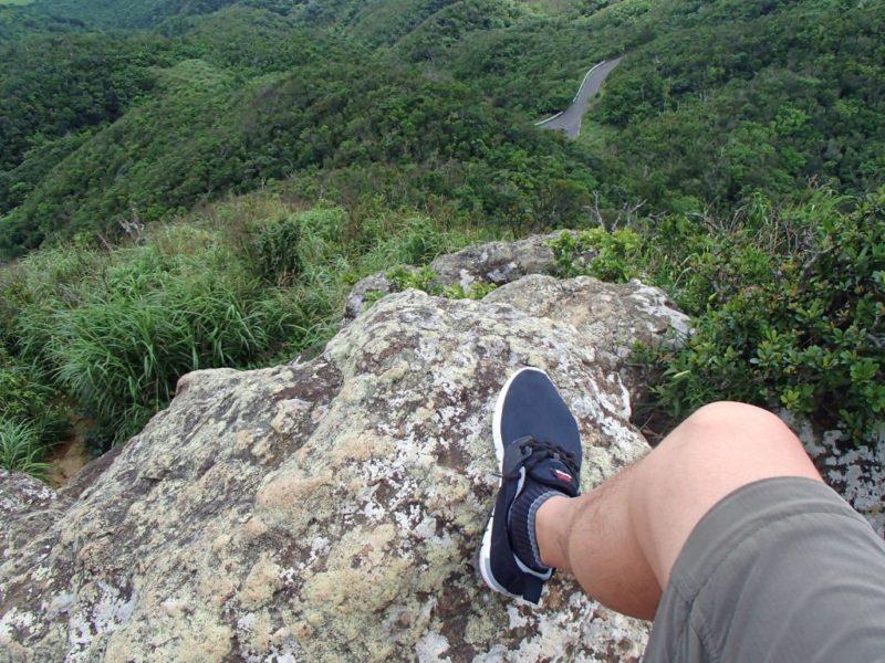 マーペー山頂の岩場