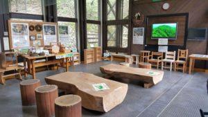 森林館の木工家具製作見本