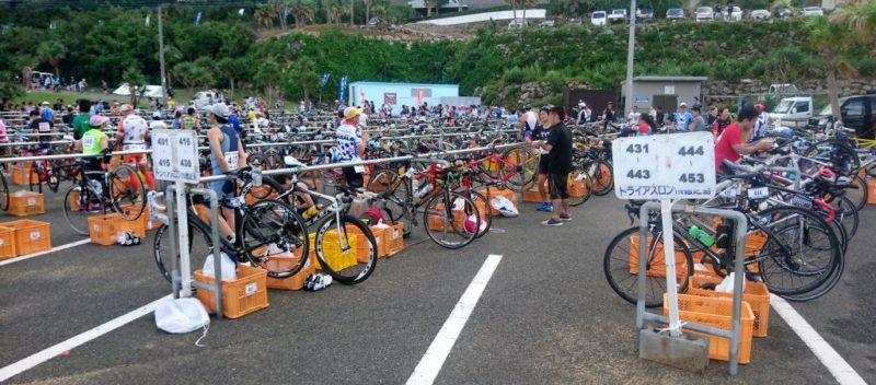 徳之島トライアスロンのバイクラック