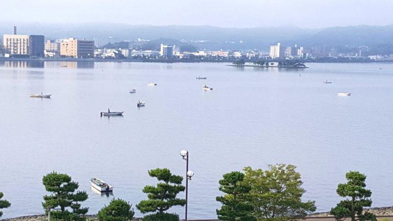 宍道湖のシジミ漁