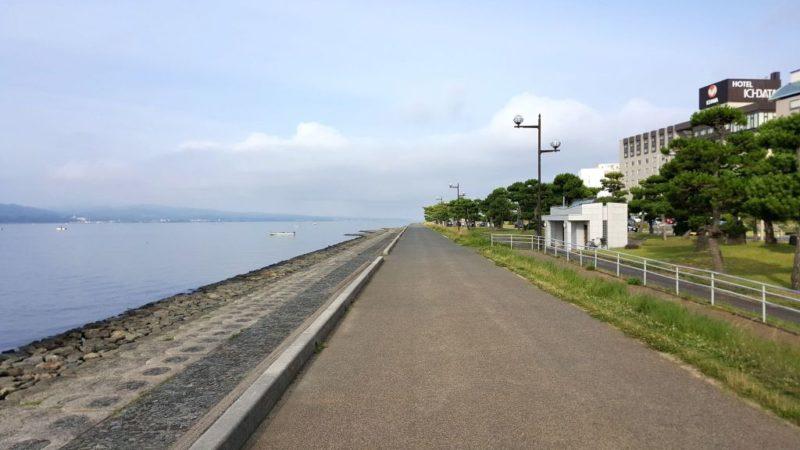 宍道湖の遊歩道