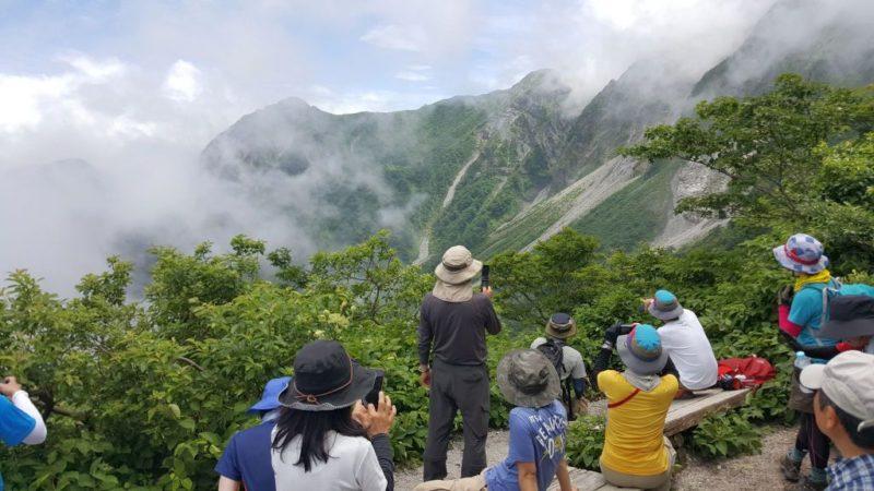 夏山登山道の六合目