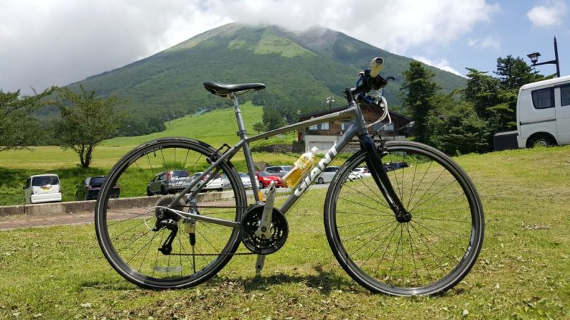 枡水高原とジャイアントのクロスバイク