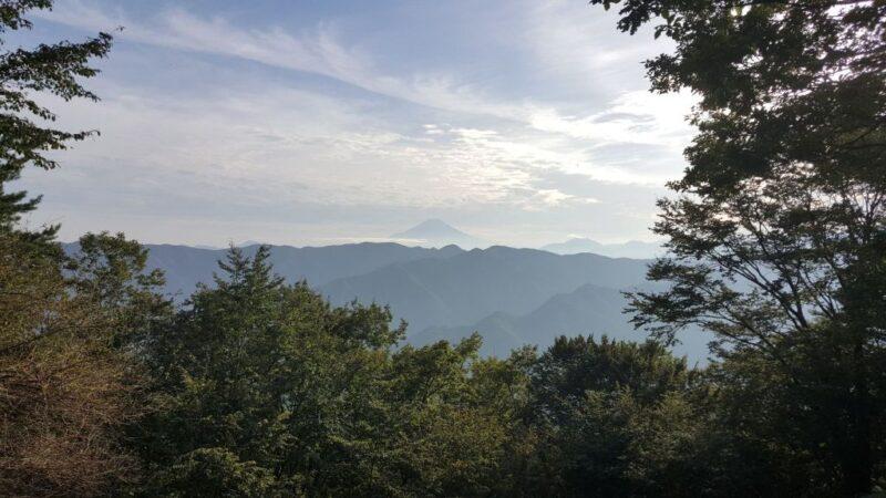 西原峠の眺望(富士山)