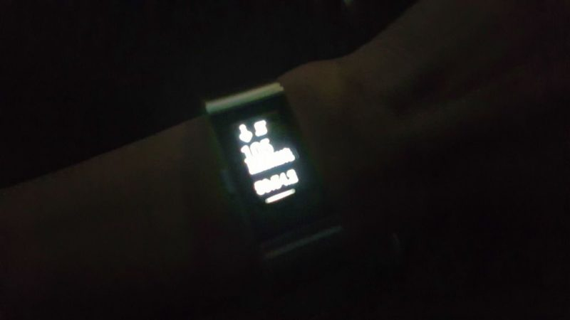夜間のFitbit