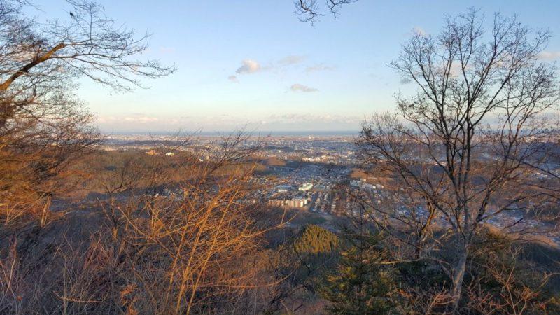 太白山の山頂からの眺め