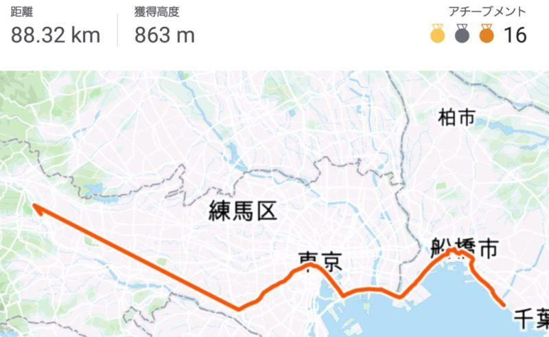 STRAVA 千葉~東京