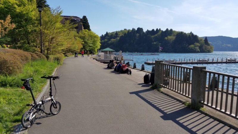 芦ノ湖のサイクリングロード
