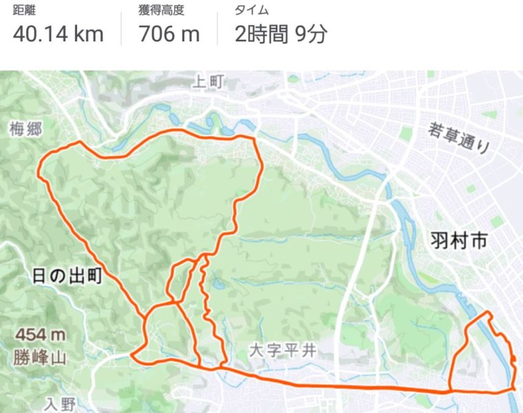 STRAVA 梅ヶ谷峠