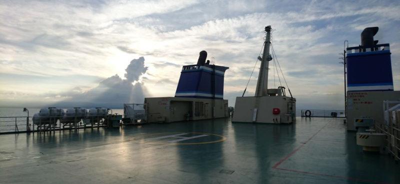 マリックスフェリーの甲板