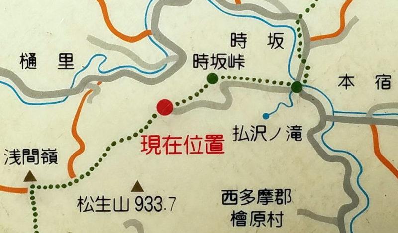 時坂峠の地図