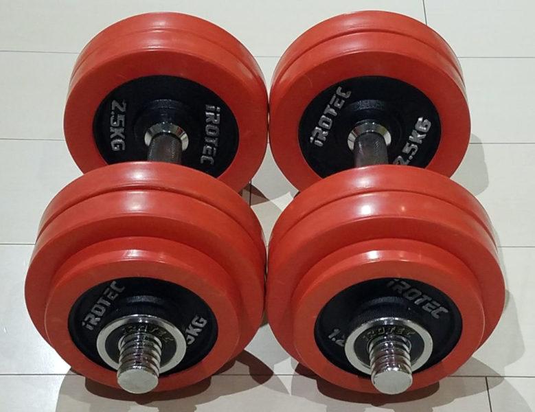 IROTECのダンベル30kg