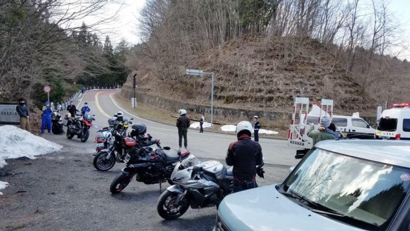 風張峠の交通事故現場
